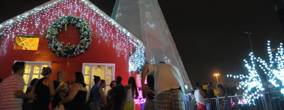 Bosque Maia j� brilha com as luzes do Natal